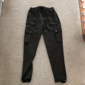 Olive green pants H&M